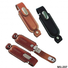 Leather USB with keychain #M1-237