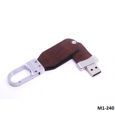 Leather USB with keychain #M1-240