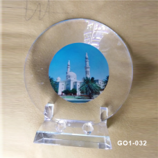 Crystal Plate Gift with Stand #GO1-032