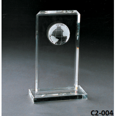 Crystal Trophies  with stand # C2-004