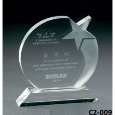 Crystal Trophies  with stand # C2-009