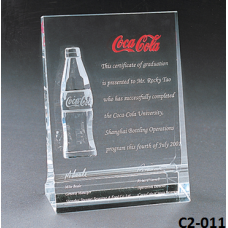 Crystal Trophies  with stand # C2-011