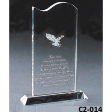 Crystal Trophies  with stand # C2-014